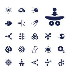 22 molecular icons vector