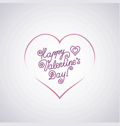 49-2 lettering happy valentine s day vector image