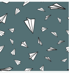 Abstract pattern seamless paper airplane vector