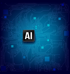 ai artificial intelligence technology cpu chipset vector image