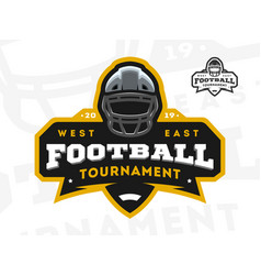 american football tournament emblem logo vector image