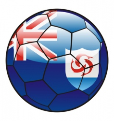 Anguilla flag on soccer ball vector