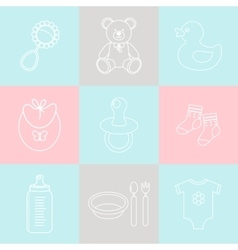 Baby supplies vector