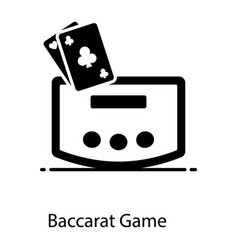 Baccarat game vector