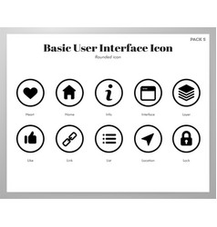 Basic ui icons rounded pack vector