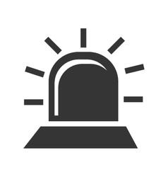 black alarm icon vector image