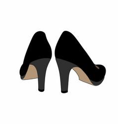 Black shoes back vector