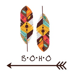 Boho design vector image