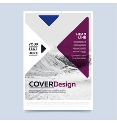 Brochure layout design vector