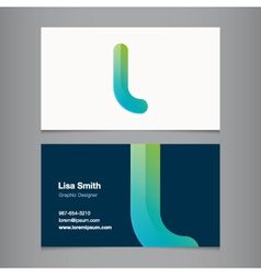 business card letter l vector image