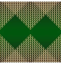 Card with pattern of golden mesh vector image