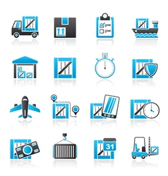 Cargo shipping Logistics and delivery vector image