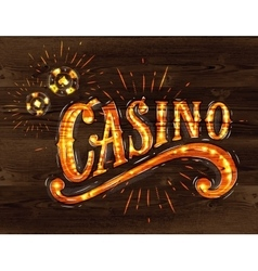Casino sign wood vector