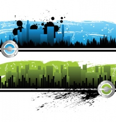 city music banners vector image