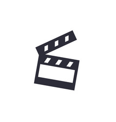 clapperboard cinema icon on white vector image