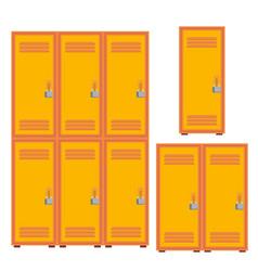 Classic school locker metal cabinet icon vector