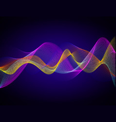 colorful digital wave vector image