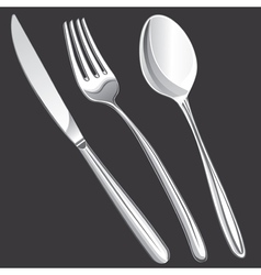 Cutlery fork spoon knife vector