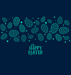 decorative eggs pattern for happy easter festival vector image