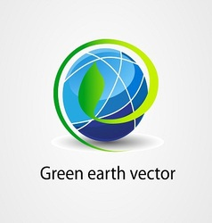 eco green earth stock logo icon vector image