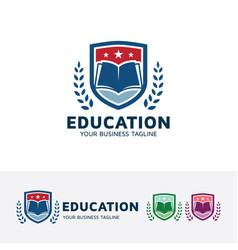 Education logo design vector