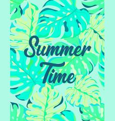 floral frame summer time vector image