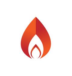 geometric shape fire flames element emblem symbol vector image