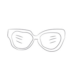 glasses lines vector image