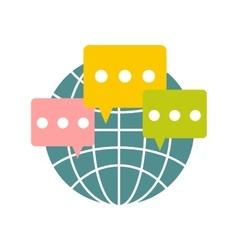 Global communication flat icon vector image