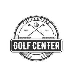 Golf logo design emblem style minimalist vector