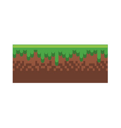 Ground terrain game vector