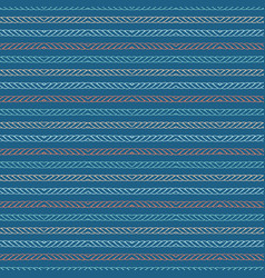 Hand drawn textured maritime rope stripes vector