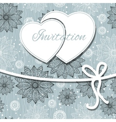 happy valentines day and weeding card vector image