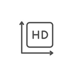hd video line icon vector image