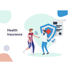health insurance security vector image