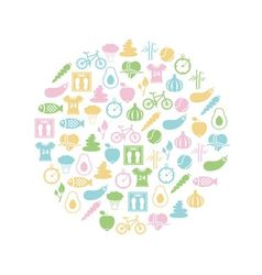 Healthy lifestyle icon in circle vector