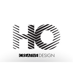Ho h o lines letter design with creative elegant vector