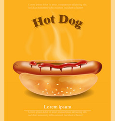 hot dog realistic detailed 3d vector image