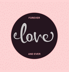 Inscription love vector