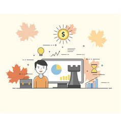 it solutions smart technologies charts and vector image