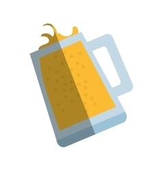 Mug glass beer foam drink shadow vector