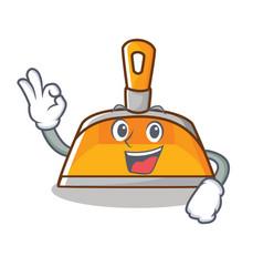 okay dustpan character cartoon style vector image