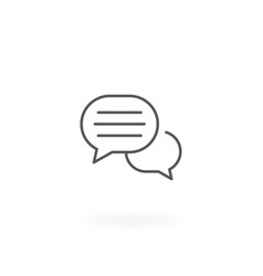 Online chat icon vector