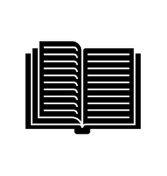 open book icon black sign on vector image