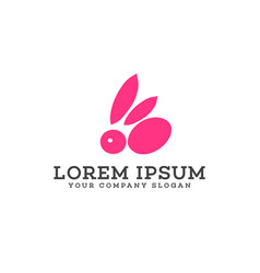 Rabbit logo animals and pets logo design concept vector