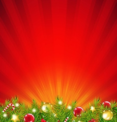 Red Xmas Sunburst Border vector image vector image