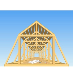 roof of the house vector image