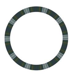round frame vintage pattern design template vector image