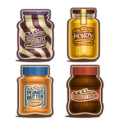 set of isolated jars vector image
