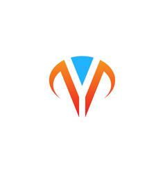 shape initial v company logo vector image